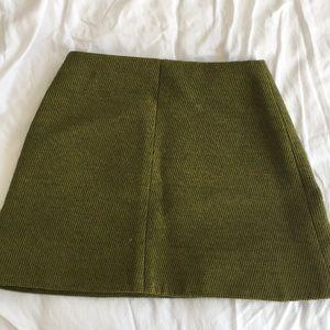 Tibi green wool mini skirt size 0